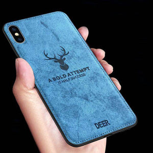 iPhone XS Deer Pattern Inspirational Soft Case