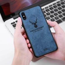 Load image into Gallery viewer, iPhone XS Deer Pattern Inspirational Soft Case