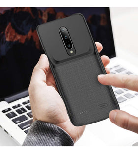 JLW OnePlus 7 Portable 6000 mAh Battery Shell Case