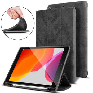 Mutural Lightweight Smart Flip Cover Stand with Pen Slot for iPad 10.2 inch