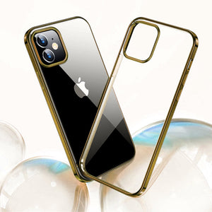 iPhone 12 Electroplating Silicone Transparent Glitter Case