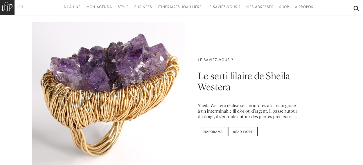 The French Jewelry Post | Sheila Westera London