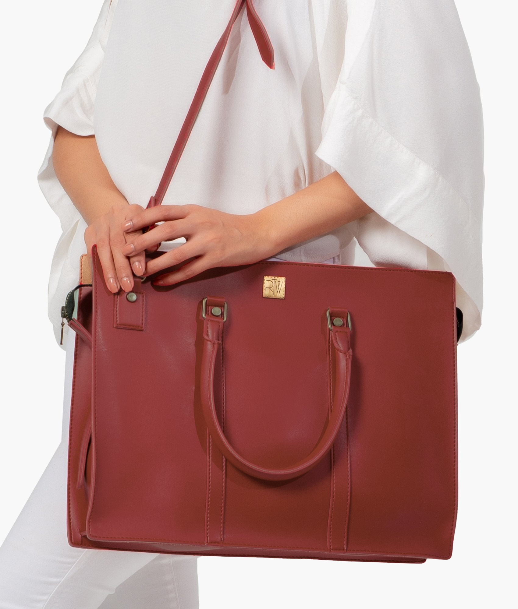 Maroon laptop bag