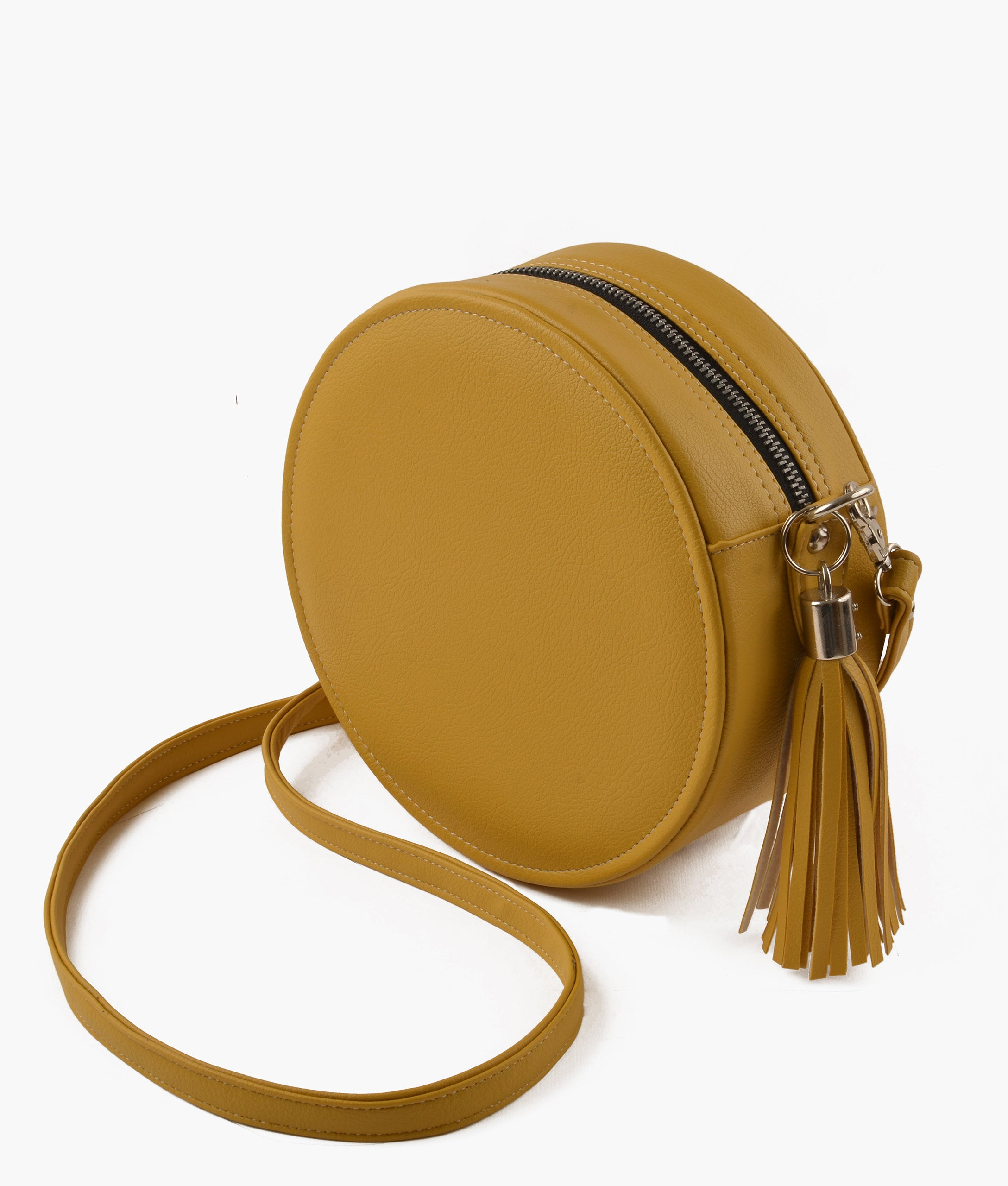 Yellow circle cross-body bag