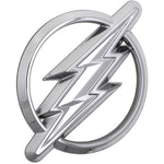 Fan Emblems The Flash Car Badge, 3D Symbol (Chrome)