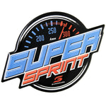 Fan Emblems Supercars Car Decal, Super Sprint Logo (Lensed Chrome Finish)