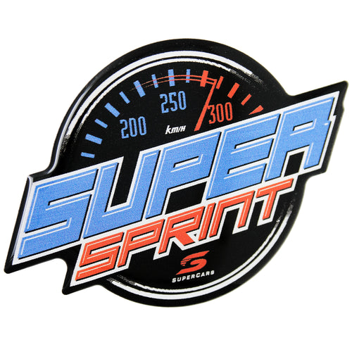 Supercars Super Sprint Logo Domed Automotive Decal for Cars, Trucks, Motorcycles, Laptops, Almost Anything
