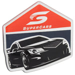 Fan Emblems Supercars Car Decal, Racecar Logo (Lensed Chrome Finish)