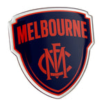 Fan Emblems Melbourne Demons Lensed Chrome AFL Supporter Logo