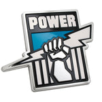 Port Adelaide Power AFL 3D Chrome Emblem - Cars, Laptops, Most Things