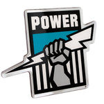 Fan Emblems Port Adelaide Power Lensed Chrome AFL Supporter Logo