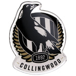 Fan Emblems Collingwood Magpies Lensed Chrome AFL Supporter Logo