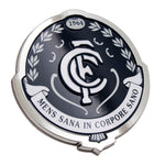 Fan Emblems Carlton Blues 3D Chrome AFL Supporter Badge
