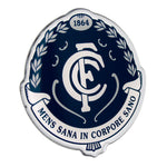 Fan Emblems Carlton Blues Lensed Chrome AFL Supporter Logo