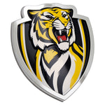 Fan Emblems Richmond Tigers 3D Chrome AFL Supporter Badge