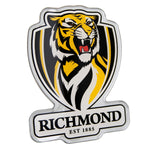 Richmond Tigers AFL Lensed Chrome Decal - Cars, Laptops, Most Things