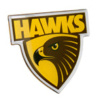 Fan Emblems Hawthorn Hawks Lensed Chrome AFL Supporter Logo