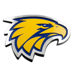 West Coast Eagles AFL 3D Chrome Emblem - Cars, Laptops, Most Things