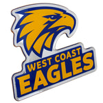 Fan Emblems West Coast Eagles Lensed Chrome AFL Supporter Logo