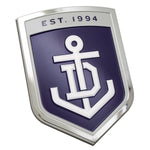 Fan Emblems Fremantle Dockers 3D Chrome AFL Supporter Badge