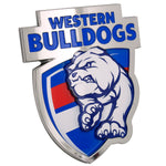 Fan Emblems Western Bulldogs 3D Chrome AFL Supporter Badge