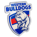 Fan Emblems Western Bulldogs Lensed Chrome AFL Supporter Logo