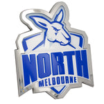 Fan Emblems North Melbourne Kangaroos 3D Chrome AFL Supporter Badge