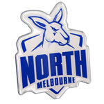 North Melbourne Kangaroos AFL Lensed Chrome Decal - Cars, Laptops, Most Things