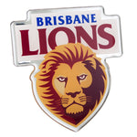 Brisbane Lions AFL Lensed Chrome Decal - Cars, Laptops, Most Things