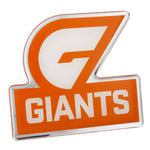 Fan Emblems GWS Giants Lensed Chrome AFL Supporter Logo