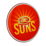 Gold Coast Suns AFL Lensed Chrome Decal - Cars, Laptops, Most Things