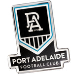 Fan Emblems Port Adelaide Car Decal • Clear Resin Coated Auto Sticker for Cars, Laptops, Most Smooth Surfaces • 84 x 76 x 2mm • Officially Licensed AFL Accessories, Gifts, Merchandise
