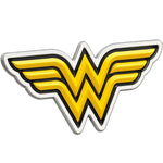 Fan Emblems Wonder Woman 3D Car Badge - Classic Logo (Black, Yellow and Chrome)