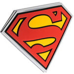 Fan Emblems Superman 3D Car Badge - Classic Logo (Black, Red, Yellow and Chrome)
