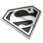 Fan Emblems Superman 3D Car Badge - Classic Logo (Black and Chrome)