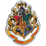Fan Emblems Harry Potter Domed Chrome Car Decal - Hogwarts Crest