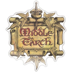 Fan Emblems Middle Earth Car Decal • Clear Resin Coated Automotive Sticker for Cars, Laptops, Most Smooth Surfaces • Officially Licensed Lord of The Rings Gifts, Merchandise, Décor