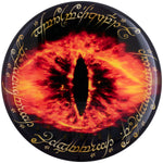 Fan Emblems Lord of the Rings Domed Car Decal - Eye of Sauron Logo