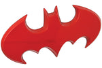 Fan Emblems Batman 3D Car Badge - 1989 Batwing Logo (Red Chrome)