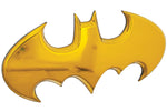 Fan Emblems Batman 3D Car Badge - 1989 Batwing Logo (Yellow Chrome)