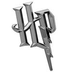 Fan Emblems Harry Potter Car Badge 3D HP Symbol (Black Chrome)
