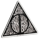 Fan Emblems Harry Potter Domed Chrome Car Decal - Deathly Hallows Symbol