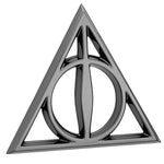 Fan Emblems Harry Potter Car Badge 3D Deathly Hallows Symbol (Black Chrome)