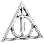 Fan Emblems Harry Potter Car Badge 3D Deathly Hallows Symbol (Chrome)