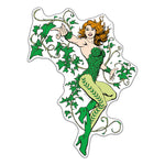 Fan Emblems Poison Ivy Character Car Decal (Lensed Chrome Finish)