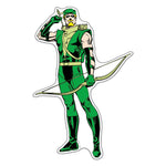 Fan Emblems Green Arrow Classic Character Car Decal (Lensed Chrome Finish)