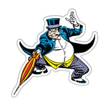 Fan Emblems The Penguin Character Car Decal (Lensed Chrome Finish)