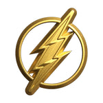 Fan Emblems The Flash Car Badge, 3D Symbol (Gold)