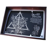 Fan Emblems Harry Potter Deathly Hallows Collectible, Authentic 20th Anniversary Limited Edition Acid Etched Metal Plaque in Timber Display Case
