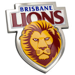 Fan Emblems Brisbane Lions 3D Chrome AFL Supporter Badge